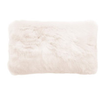 Bambury Faux Fur Oblong Cushion - Ivory