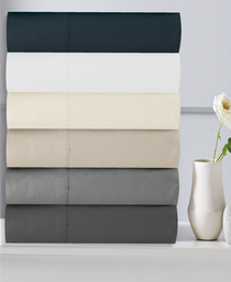 In 2 Linen 300TC Cotton Percale 50cm Mega King Bed Fitted Sheet | Assorted colours