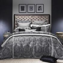 DaVinci Medici Black Queen Bed Quilt Cover Set