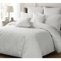 Georges Ashton White Quilted Single Bed Quilt Cover Set