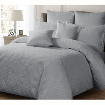 Georges Ashton Silver Quilted Single Bed Quilt Cover Set