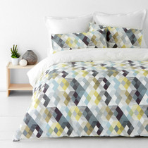 In 2 Linen Kensington Grey Single Bed Quilt Cover Set