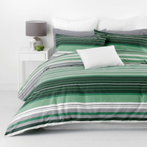 In 2 Linen Alex Green Super King Quilt Cover Set