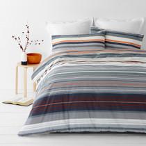 In 2 Linen Alex Orange Super King Bed Quilt Cover Set