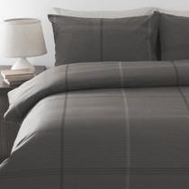 In 2 Linen Bentley Charcoal Super King Bed Quilt Cover Set