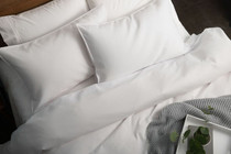 In 2 Linen Waffle Weave Double Bed Quilt Cover Set | White