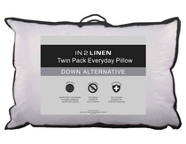 In 2 Linen Twin Pack Down Alternative Pillow | Low/Medium profile
