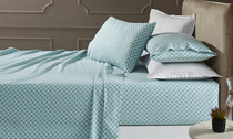 Park Avenue Egyptian Cotton Flannelette King Single Bed Sheet Set - Baraz