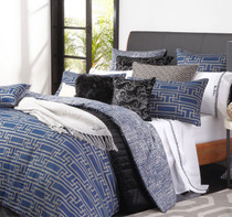 Florence Broadhurst Yvan Navy Super King Bed Quilt Cover Set 2