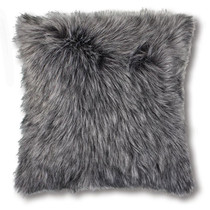 Madras Link Kashmir Charcoal Faux Fur Cushion