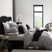 Private Collection Tyler Silver Super King Bed Quilt Cover Set