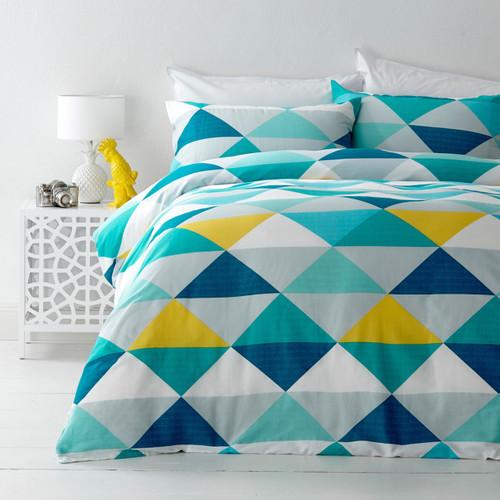 In 2 Linen Tanika Yellow Queen Bed Quilt Cover Set