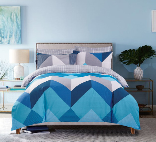 In 2 Linen Jimmy Super King Bed Quilt Cover Set