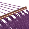 55 Inch Double Caribbean Hammock Hand Woven Polyester Rope Outdoor Handmade Patio Swing Bed (Purple)