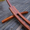 Lazy Daze Hammocks 14 Foot Russian Pine Hardwood Arc Frame Hammock Stand with Hooks and Chains