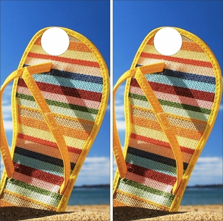 Beach Cornhole Wraps