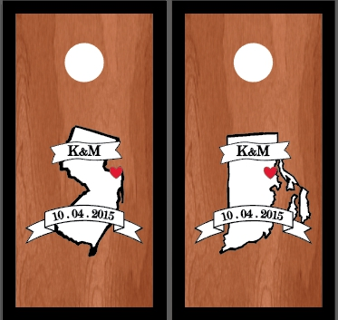 Stained Wedding Cornhole Sets