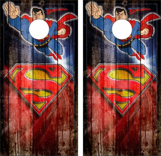 Superhero Cornhole Wraps