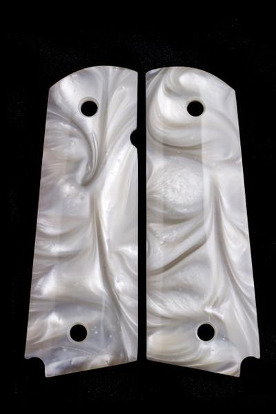 GG1911APW 1911 Gun Grips Acrylic Pearl White