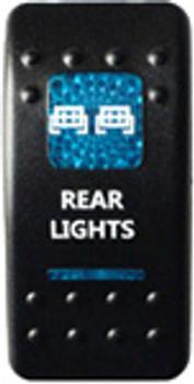 Rear Lights Rocker Switch (Blue)