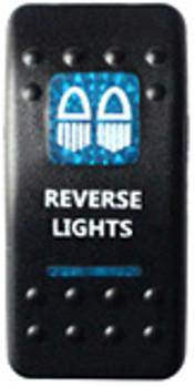 Reverse Lights Rocker Switch (Blue)