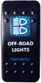 Off-Road Lights Rocker Switch (Blue)