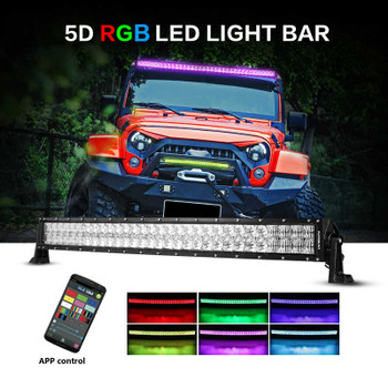 """AuxBeam V-Series 32"""" 180W Combo Curved RGB LED Light Bar (5D Projector Lens)"""
