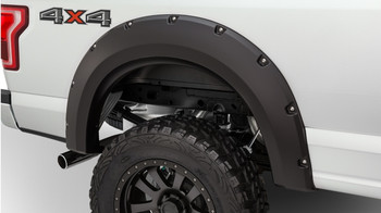 Bushwacker Max Coverage Pocket Style Fender Flare - Rear Pair - OE Matte Black