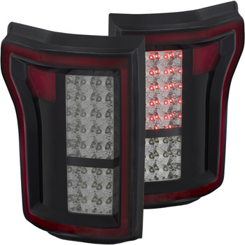 2015-2017 Ford F-150 Anzo DRL Outline LED Tail Lights (Smoke)