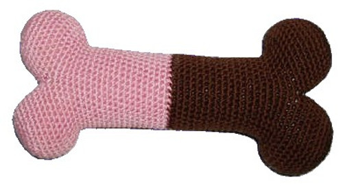 Pink Bone Crochet Toy
