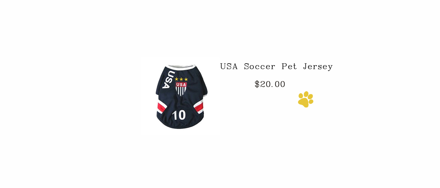 USA Soccer Pet Jersey
