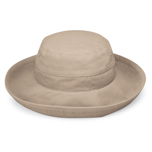 Womens Wallaroo Casual Traveler UPF50+ sun hat camel
