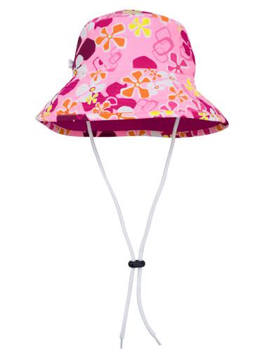 Sun busters Girls UV reversible bucket hat misty pink