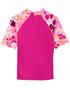Tuga girls UV swim set surfer girl misty pink swim rash vest back