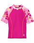 Tuga girls UV swim set surfer girl misty pink swim rash vest