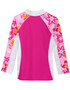 Girls Tuga UV Long Sleeve shoreline swim top taffy back