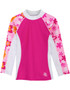 Girls Tuga UV Long Sleeve shoreline swim top taffy