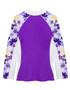 Girls Tuga UV Long Sleeve shoreline swim top agate back