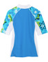 Girls Tuga seaside UV swim shirt cristillo back