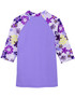 Tuga girls UV swim set Tropical Breeze Agate rash vest