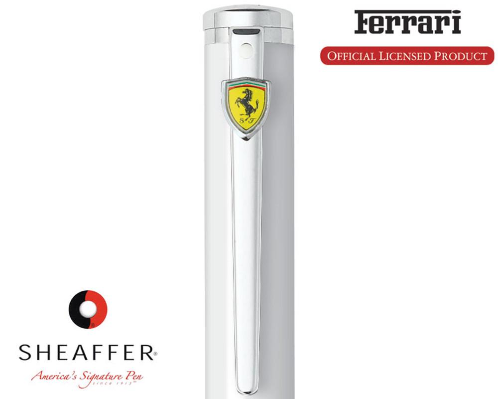 Sheaffer Ferrari Intensity Gloss White Fountain Pen emblem detail