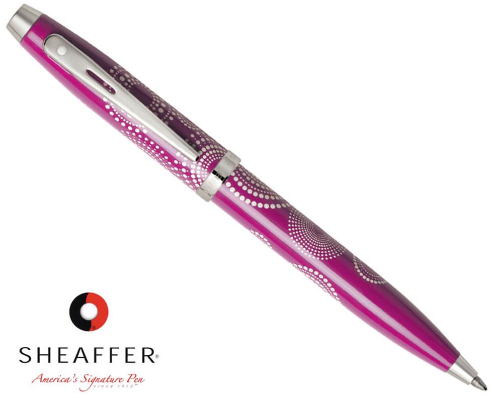 Sheaffer 100 Gloss Pink Pattern Ballpoint Pen