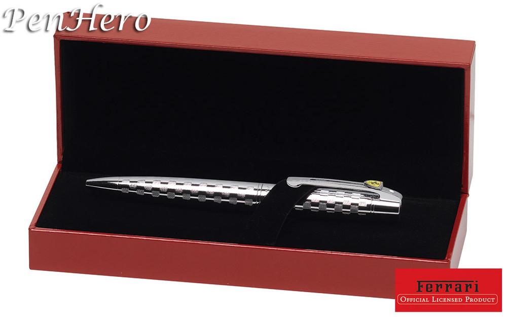 Sheaffer Ferrari 300 Checkered Flag Chrome Ballpoint Pen