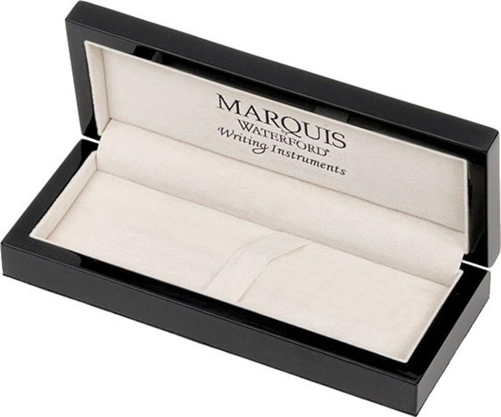 Waterford Marquis Metro Black / Gold Plate Trim Ballpoint Pen gift box