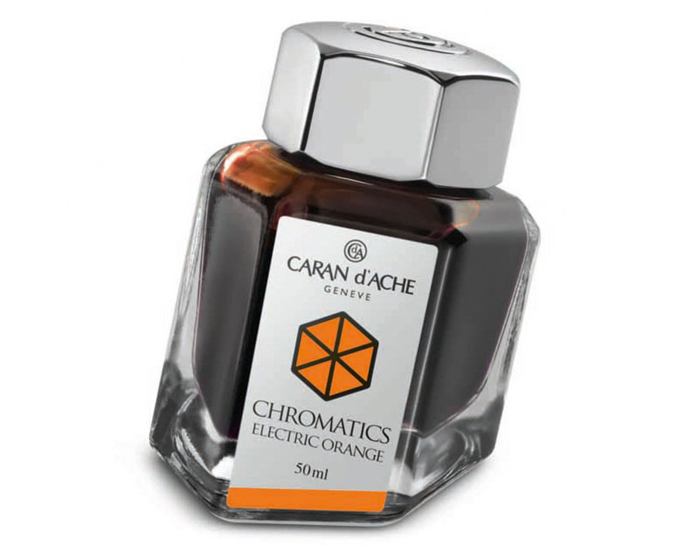 Caran d'Ache Electric Orange Ink Bottle