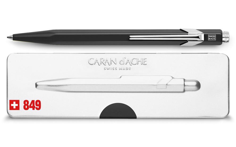 Caran d'Ache 849 POPLINE Black Ballpoint Pen