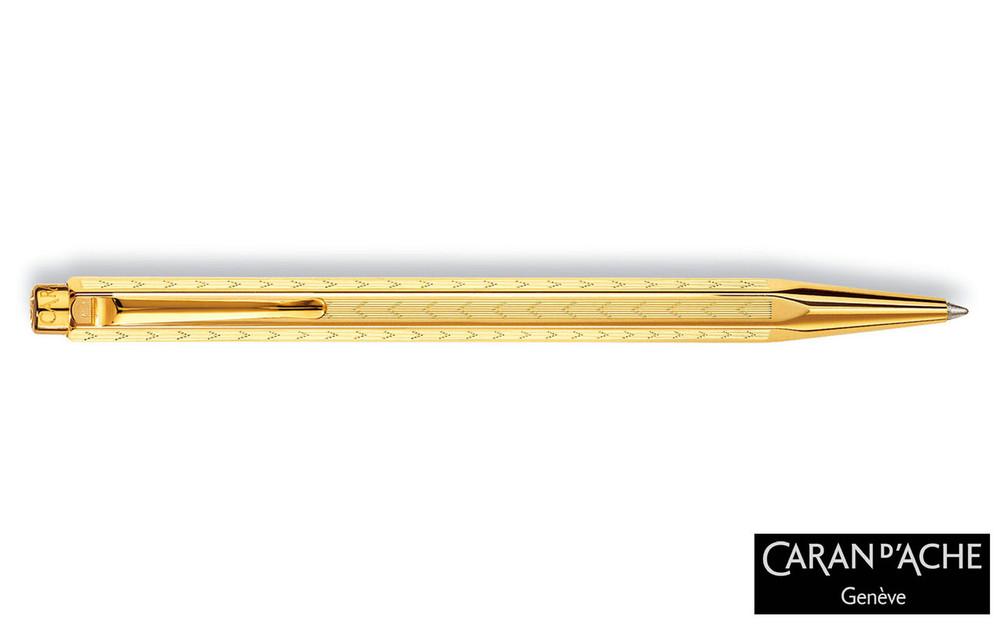 Caran d'Ache Gold-plated Ecridor Chevron Ballpoint Pen