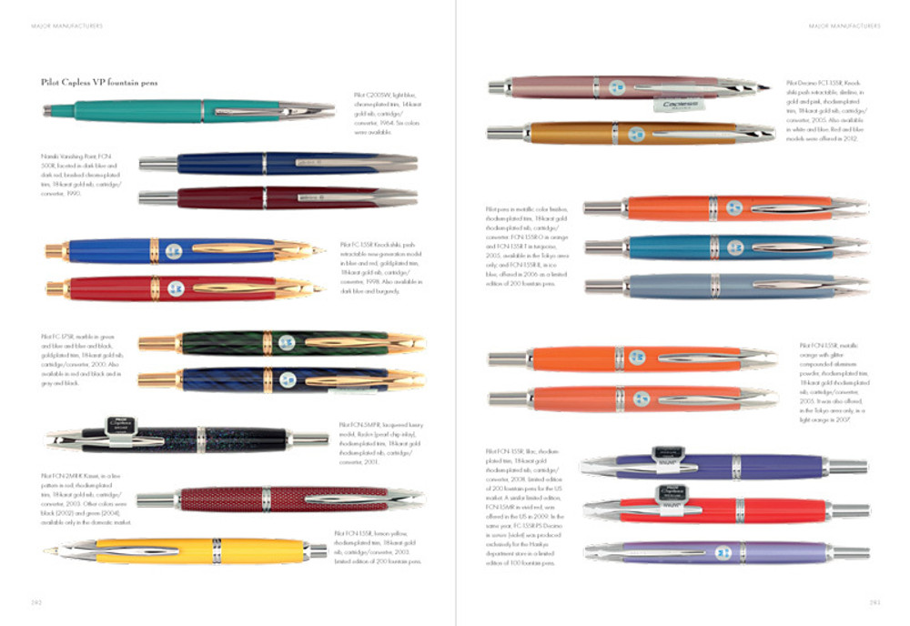 Fountain Pens of Japan pages 282-283