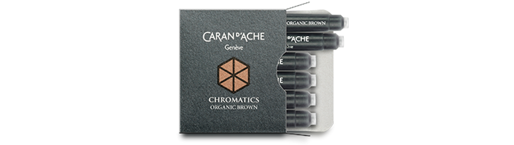 Caran d'Ache Organic Brown Ink Cartridges