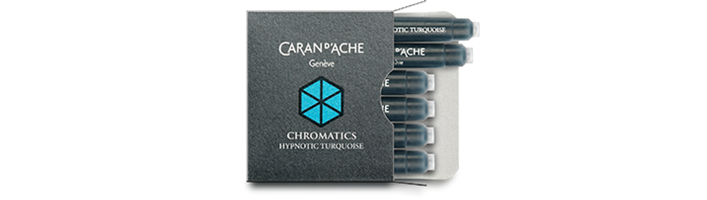 Caran d'Ache Hypnotic Turquoise Ink Cartridges